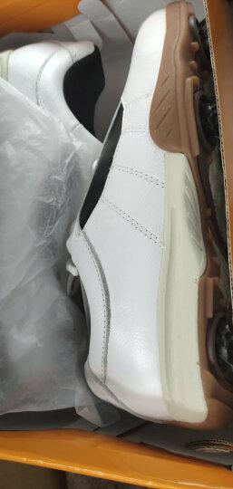 登路普DUNLOP高尔夫球鞋男款真皮运动鞋 男士活动钉 白色43码 晒单图