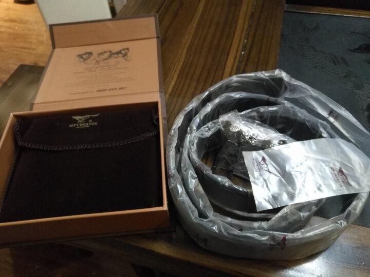 七匹狼男士皮带男  自动扣皮带男+男士钱包腰带礼盒套装L9427黑色 晒单图