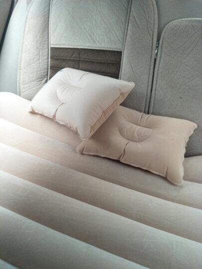 沿途 车载充气床 带头部护档 汽车用后排充气床垫 车震旅行气垫床 家用轿车睡垫 自驾游装备用品 米色 N25 晒单图
