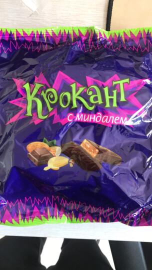KDV俄罗斯原装进口巧克力休闲零食紫皮糖碎杏仁夹心巧克力净含量500克 晒单图