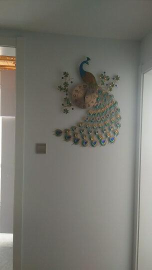 恋妆欧式孔雀挂钟客厅钟表创意个性现代艺术装饰时钟静音壁挂表石英钟 升级孔雀70cm*65cm 晒单图