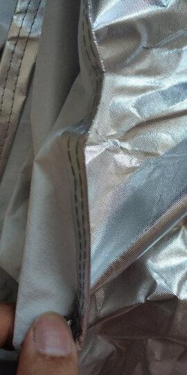 卡耐铝膜车衣全车罩汽车遮阳十代雅阁奥迪A6L宝马5系新君越S90金牛座电动车3XL+金色 晒单图