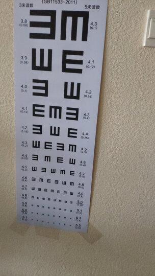 斯特斐尔 视力表挂图标准医用儿童家用墙贴视力测视表成人防撕近视测试图 新版E 晒单图