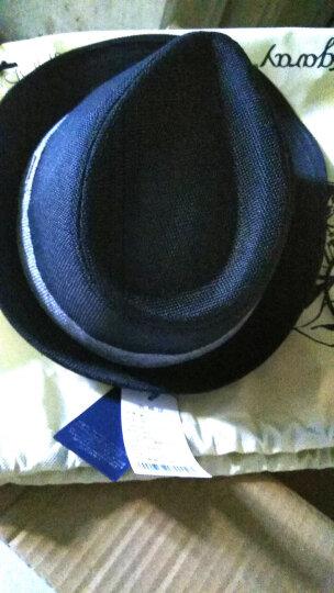 mrduck 帽子男夏天韩版潮英伦复古礼帽绅士帽男夏季爵士帽户外透气防晒遮阳帽男士草帽大码休闲帽男 MS13014-黑色(可调节) 常规码(适合56-59cm) 晒单图