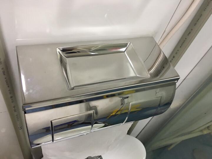 希箭/HOROW 不锈钢浴室纸巾盒全封闭防水壁挂手纸架卫生间厕纸盒置物盒 304亮光厕纸盒 晒单图