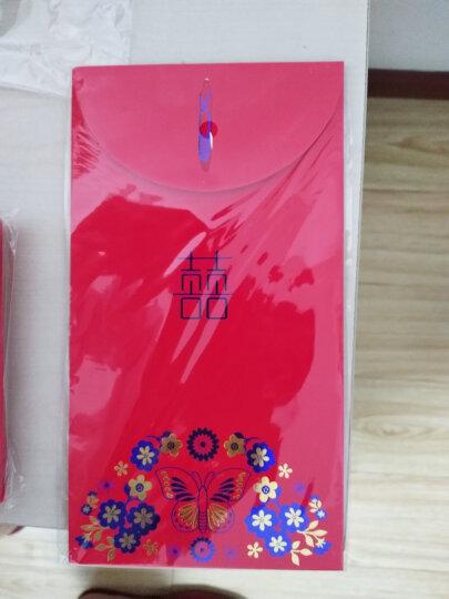 幽幽兔结婚用品婚庆红包加厚大容量礼金创意立体红包袋婚庆利是封婚礼用品硬纸彩金红包 长方形万元一包2个 晒单图