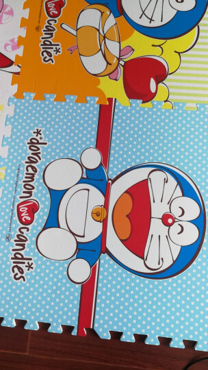 明德Meitoku 哆啦A梦泡沫地垫 PE泡沫垫 宝宝爬行垫 遨游太空拼图地垫爬爬垫儿童拼接地垫60*60*1cm(4片装) 晒单图