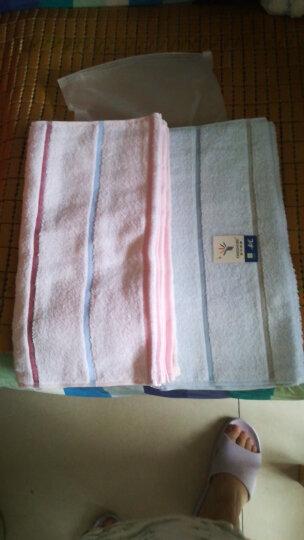 金号纯棉毛巾 提缎柔软吸水洁面巾 洗脸巾6条装 红x2 黄x2 蓝x2 70*34cm 86g/条 晒单图
