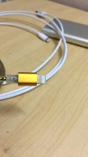 酷波苹果XS Max/XR/8/7/6/5s数据线充电线USB电源线Lighting手机连接线支持iphone5/6s/7Plus/SE/ipad等 金色 晒单图