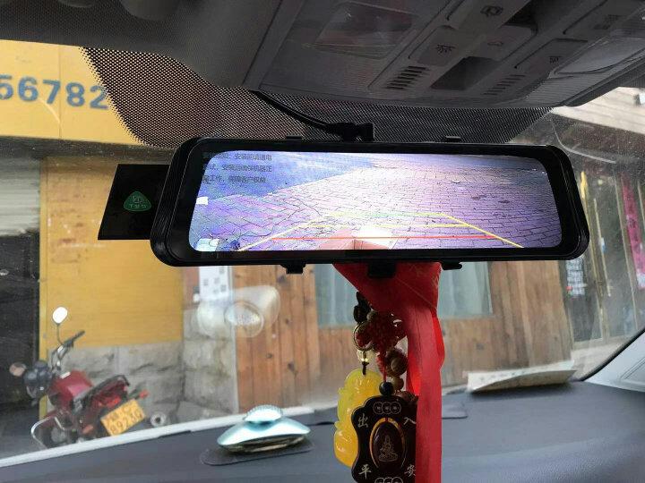 丁威特 新款10英寸行车记录仪流媒体高清无光夜视前后双录双镜头全景倒车影像电子狗后视镜一体机 套餐三:双镜头+32G卡 晒单图