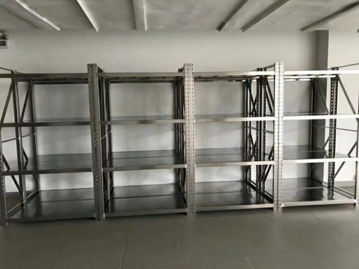 颐兴 304不锈钢货架 中型仓储货架 201不锈钢货架厨房家用置物架工厂冷库 货架 304 200*50*200 4层 晒单图