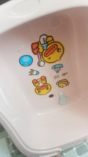 日康(rikang) 浴盆 婴儿洗澡盆婴儿浴盆 新生儿宝宝洗澡盆带浴床 坐躺两用适用0-6岁 RK-3627 蓝色 晒单图