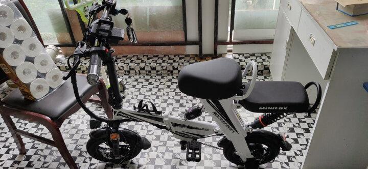 折叠电动自行车成人男女士小型超轻迷你便携代步助力电瓶车 锂电池可提取 新国标 旗舰版白色助力约90KM 晒单图