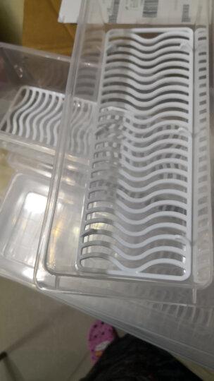 百露 冰箱收纳盒厨房蔬菜保鲜盒透明鱼盒食物储存盒子沥水整理盒 超值4个装 晒单图