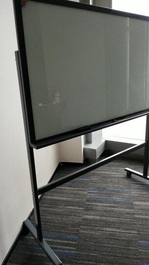 得力(deli)支架式白板150*90cm玻璃带架子白板会议办公写字板黑板8737 晒单图