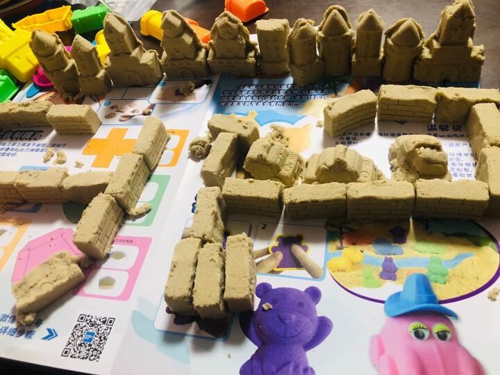 太空沙(SPACE SAND)  玩具沙彩色沙 火星动力彩色沙 儿童手工DIY玩具饼干套装 MS-800G 晒单图