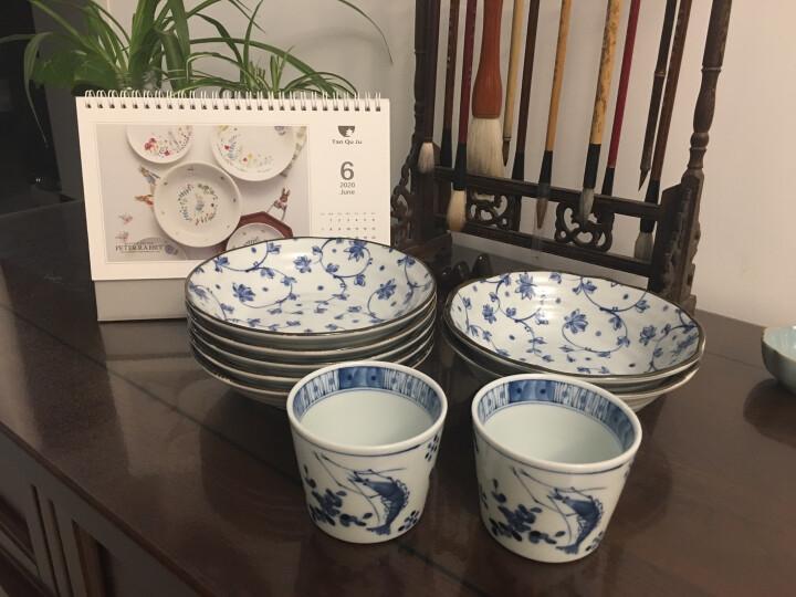 光锋 日本进口蓝凛堂手绘蓝染水杯 和风陶瓷茶杯寿司茶杯点心杯 G款虾 晒单图