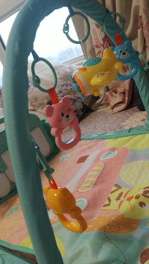 源乐堡(YuanLeBao)新生儿0-6月摇铃婴儿玩具健身架儿童脚踏刚琴早教机礼物宝宝0-1岁 【充电套装】0辐射健身架可连接手机+麦克风 晒单图