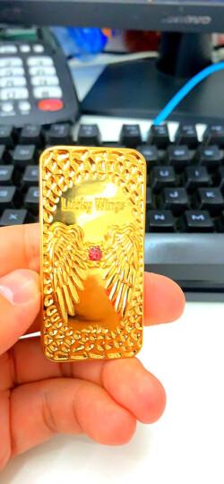 名仕(MenSeek)USB充电电热丝打火机电子点烟器超薄直冲 金属户外防风男士创意礼品火机烟具 石头纹 金色 晒单图
