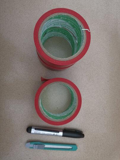 4.8cm宽地毯胶带 防水装饰装修地面无痕 斑马线地毯胶带 车间划线贴地胶带 黑黄警示胶带 红色/4.8cm宽17米长(3卷装) 晒单图