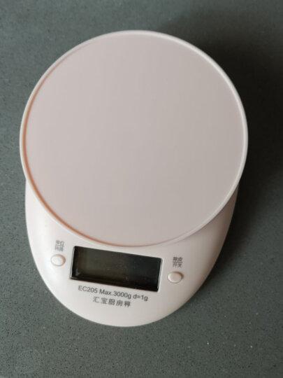 汇宝电子秤家用厨房秤家用电子秤食物称迷你烘焙秤克秤烘焙电子称克秤 粉色 晒单图