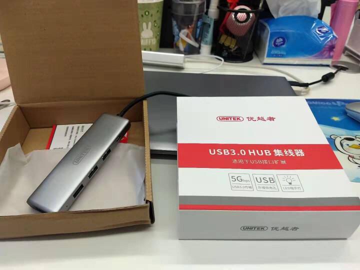 优越者(UNITEK)USB3.0分线器60CM 高速扩展一拖四多接口集线器 台式机笔记本4口HUB转换器黑色Y-3098HBK 晒单图