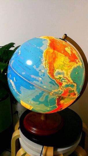 博目 32cm地形/政区中,英文灯光地球仪 LED光源 办公用品 教学研究摆件 教材同步 教学用品 创意礼品 办公书房装饰 晒单图