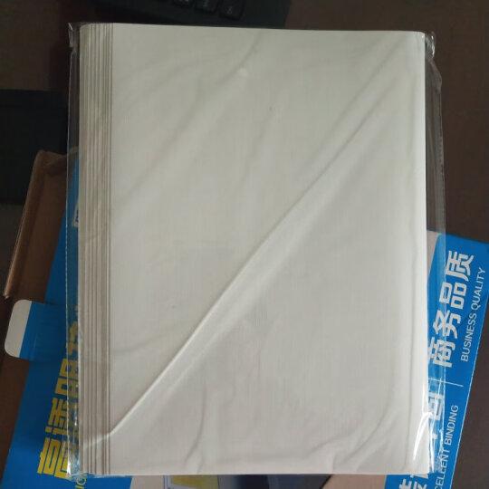 DSB 热熔封套 A4 10mm 装订100页 透明封面+进口艺术纸压纹封底 20个/盒 晒单图