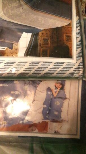 艾薇 双人床垫套保护罩纯棉斜纹防滑床笠1.5米床 40支米罗 150*200cm 晒单图