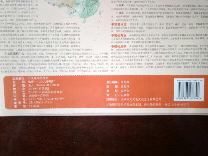 中华人民共和国全图(竖版1:8000000 新编·竖版) 晒单图