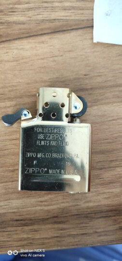 之宝(Zippo)打火机 盔甲黄铜 拉丝黄铜厚壳168 煤油防风火机 晒单图