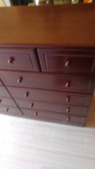 森远达 实木五斗柜储物柜 现代简约卧室多功能收纳柜抽屉式整装 MS-063白色 晒单图