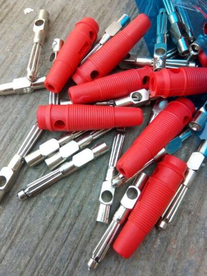 兆信纯铜免焊 32A大电流高压香蕉接头 4mm香蕉插头 音箱线香蕉头 7针 绿色  插头 1个 晒单图