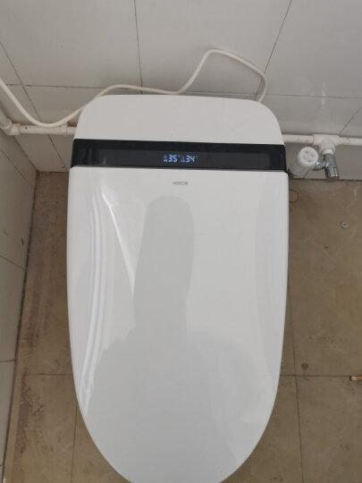 希箭/HOROW 智能马桶一体式坐便器即热式无水箱全自动冲洗烘干坐便器 TQ1大冲力脚感冲水 智控旋钮-300坑距 晒单图