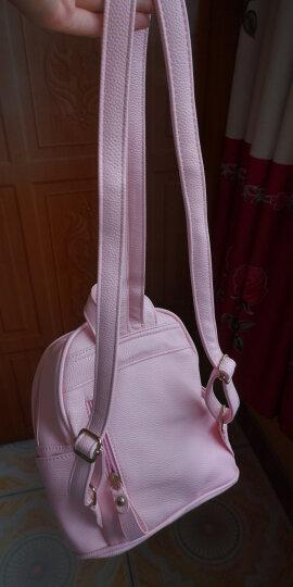 凡珂女士双肩包女韩版时尚个性百搭迷你小包新款潮书包背包女包 粉红色 晒单图