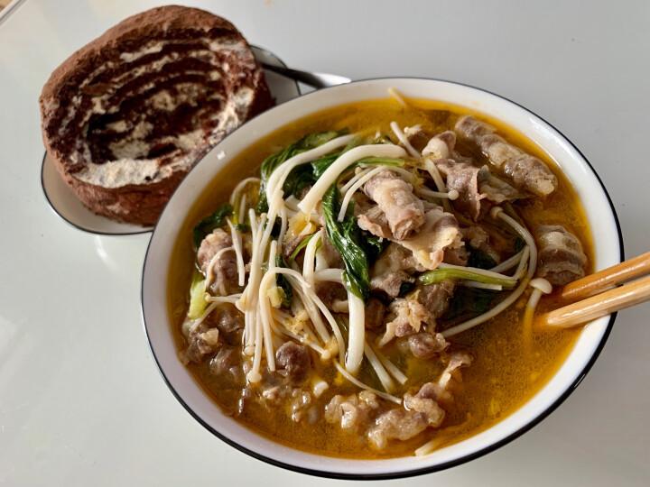 蒙都 神涮牛肉片 500g/桶 家庭肥牛片 火锅食材 晒单图