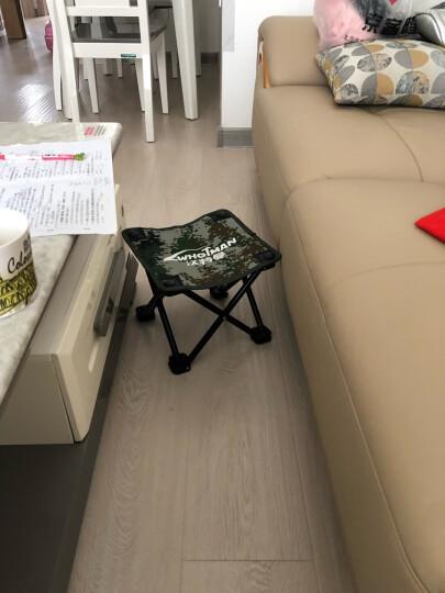 沃特曼Whotman 马扎折叠椅便携式小凳子钓鱼椅户外休闲马扎 小号 WY1508数码蓝 晒单图