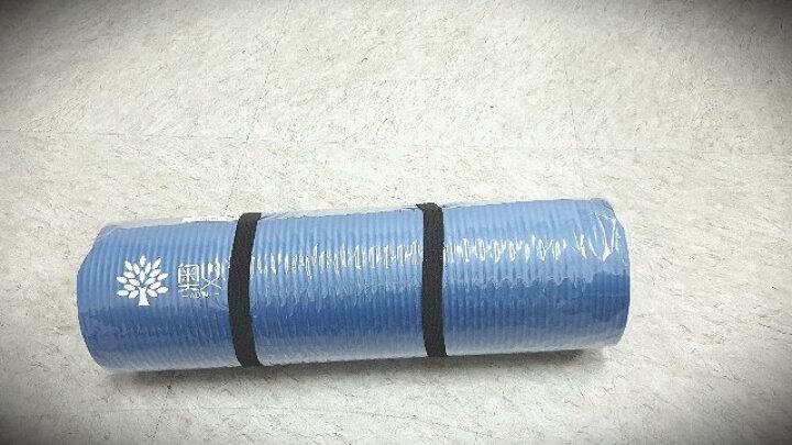 奥义瑜伽垫 加厚15mm舒适防硌健身垫 高密度防滑加长男女运动垫子 深紫(含绑带网包) 晒单图