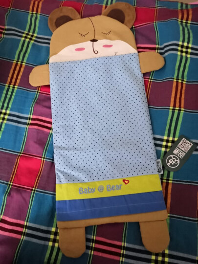 双漫卡通儿童枕套 婴儿枕头套 供换洗 天空蓝 加长号枕套25*56 晒单图