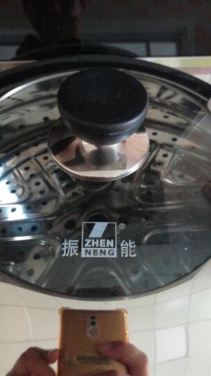 振能(ZHENNENG) 二层蒸锅不锈钢复底 电磁炉烹饪锅具 24 26 28 30cm 30cm 晒单图