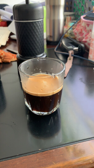 STARESSO 家用便携式手动二代意式手磨咖啡机手冲热饮胶囊 户外手压咖啡壶 黑色+便携包+5颗胶囊 晒单图