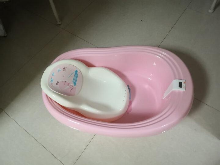 日康(rikang) 浴盆 婴儿洗澡盆婴儿浴盆 新生儿宝宝洗澡盆感温浴盆 坐躺两用 适用0-6岁 浅粉色 RK-X1003-1 晒单图