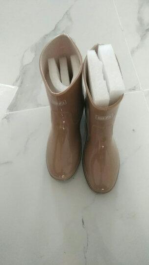 回力雨鞋女士短筒雨女式防水鞋中筒成人水靴胶鞋套鞋 蓝色 37 晒单图