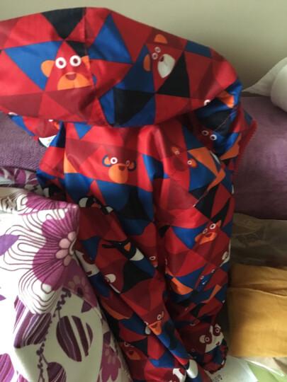 南极人男女童连帽羽绒服儿童糖果色保暖轻羽绒外套 蓝色 110 晒单图