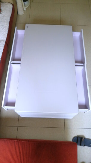 古宜 新款电视柜客厅简约现代电视机柜 中小户型电视柜套装背景墙茶几组合 钢化玻璃钢琴烤漆地柜 单个1.3米茶几(白色台面) 晒单图