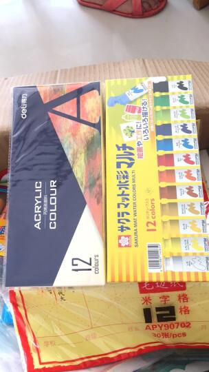 日本樱花(SAKURA)水彩颜料美术绘画 12色半透明水彩套装黄盒 MWM12PE【日本进口】 晒单图