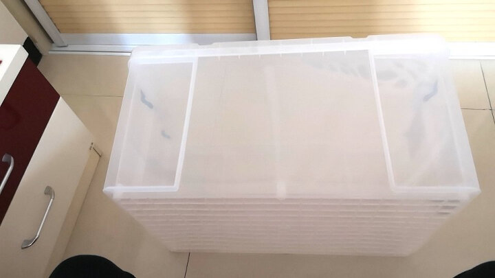 Tenma天马株式会社 劳克斯收纳箱被子储物箱床底衣物收纳盒玩具整理箱周转箱特大号收纳箱 530L(46L) 单个装(透明色) 晒单图