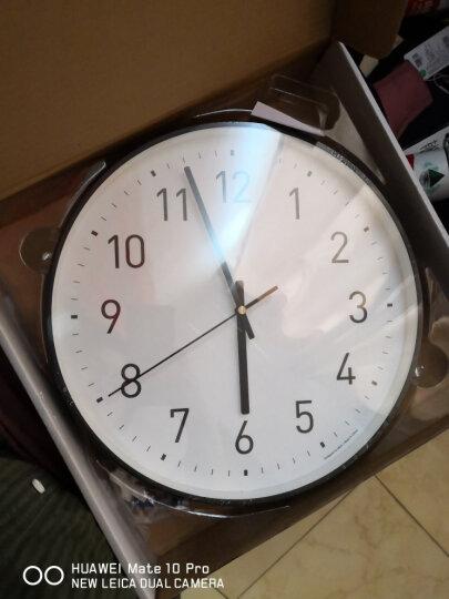 星川(Mkway) 时尚简约挂钟办公室卧室客厅静音时钟挂表 经典款 12英寸 晒单图
