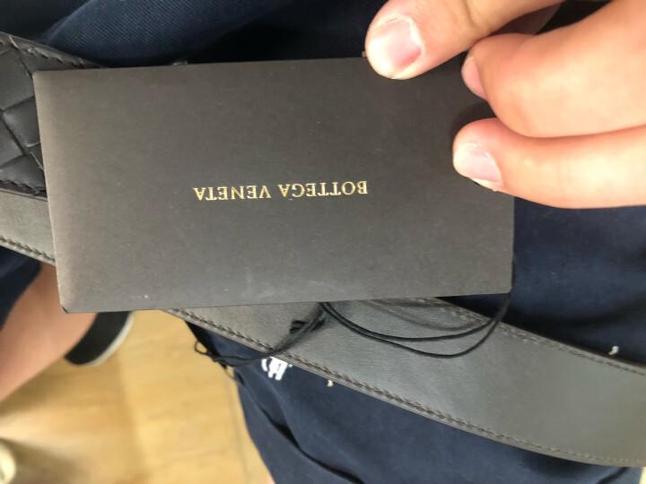 BOTTEGA VENETA 宝缇嘉 BV  男士棕色小牛皮编织针扣腰带 407396 V4650 2006 90cm 晒单图