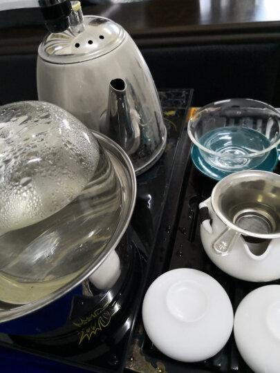 左茗右器 玻璃茶具套装带过滤泡茶壶带把 蒸汽壶 功夫茶具杯红茶茶具杯烧水壶办公室家用花茶茶具组合 蒸煮两用壶 晒单图